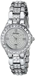 "Armitron Women's ""75/3689SVSV"" Swarovski Crystal-Accented Silver-Tone Bracelet Watch"