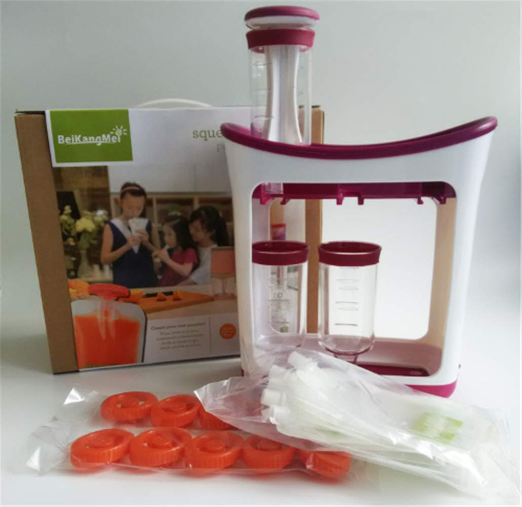The Station for Squeezing Baby Food Comes with Reusable Bags and Spoons by ZANGZ (Image #3)