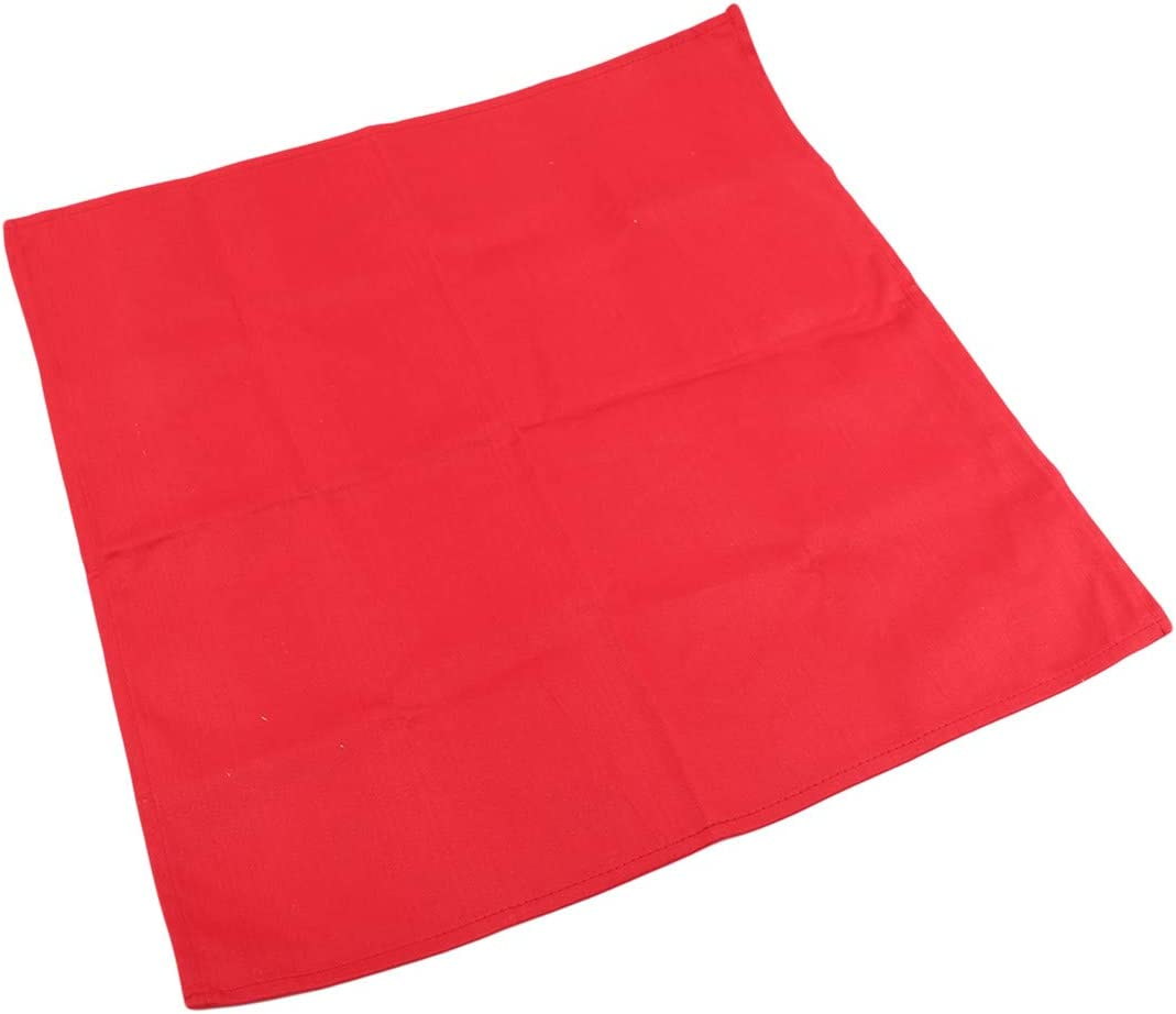 YSINFOD Square Dinner Napkins Cotton Satin Western Tablecloth Handkerchief Party Dinner Table Wedding Banquet Decoration,red