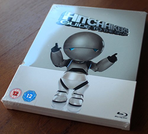 The Hitchhiker's Guide to the Galaxy (Steelbook Edition) [ Blu-Ray, Reg.A/B/C Import - United Kingdom ]