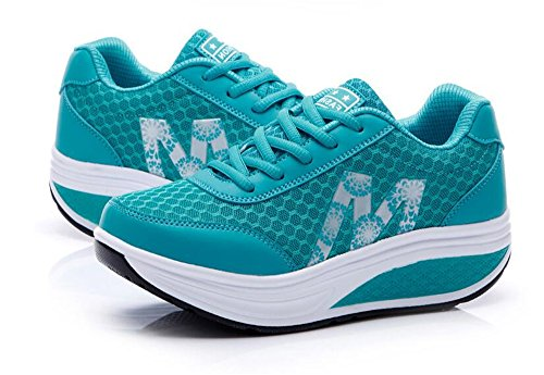 Sneakers Platform Tennis Lightweight Blue Shoes Women's Casual Walking IINFINE Fitness Air 1BwtRq1