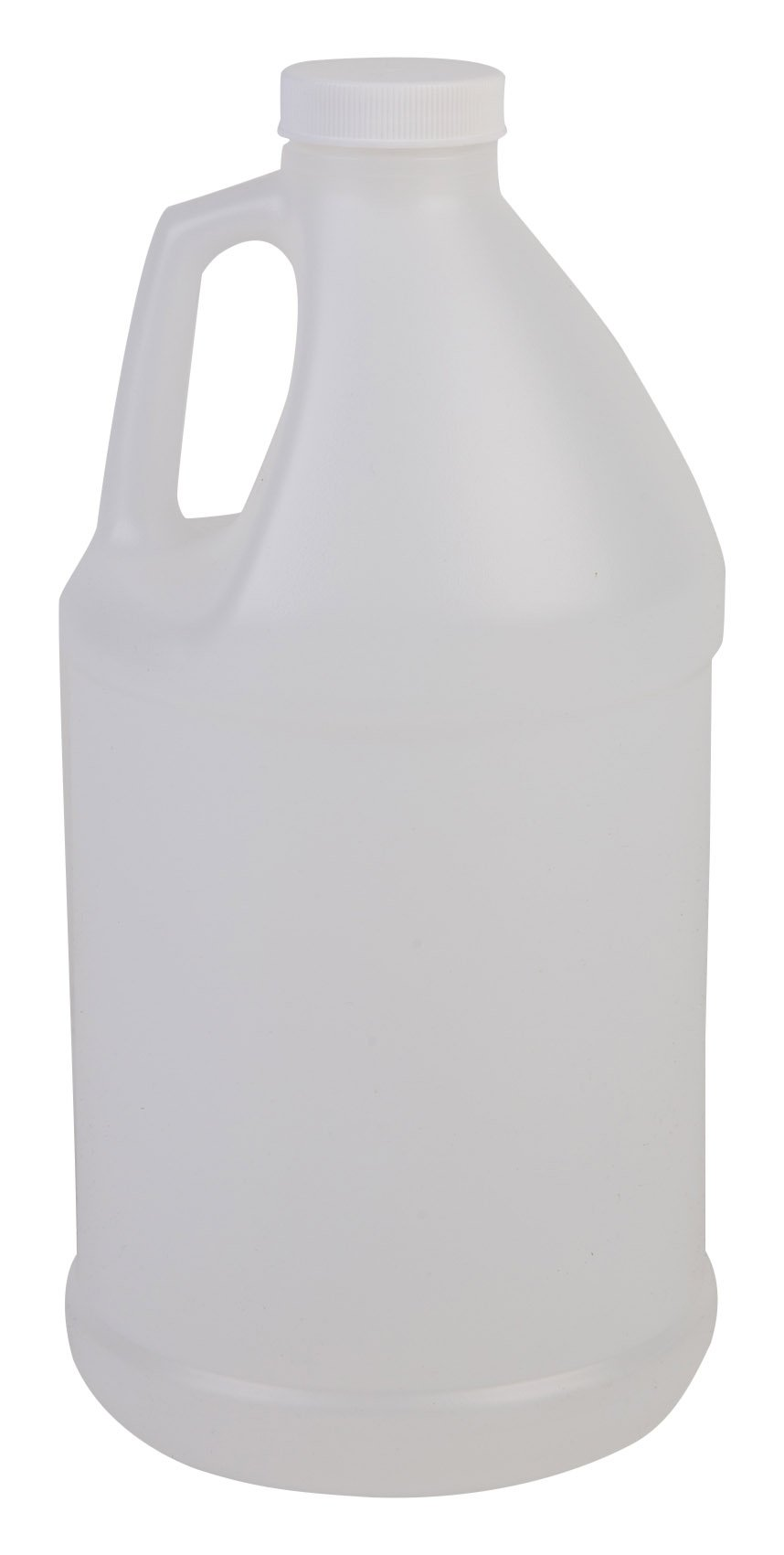 Hudson Exchange 1/2 Gallon Round Plastic Jug with Cap, HDPE, Natural, 6 Pack