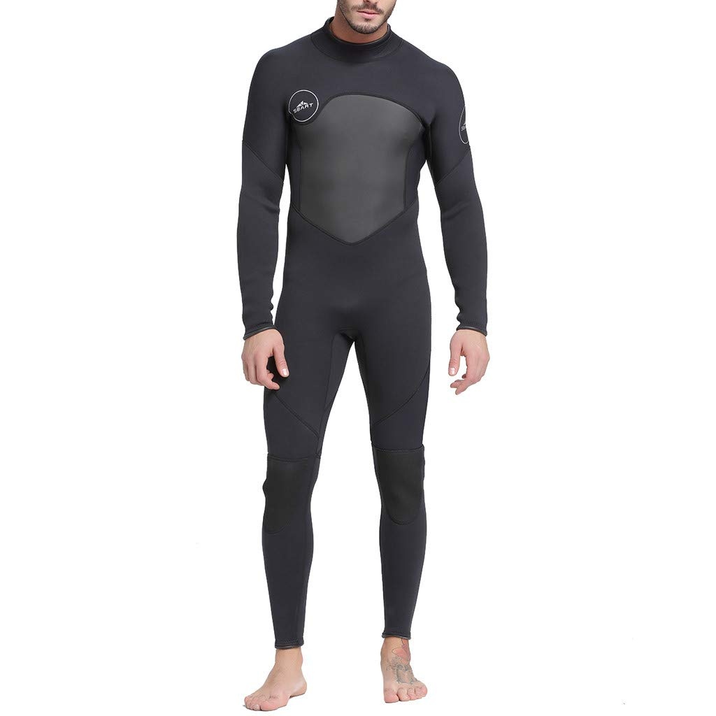 KNDDY Full Body Thin Wetsuit, UV Protection Long Sleeves Dive Skin Suit-for Swimming/Diving/Surfing-One-Piece for Men Black by KNDDY