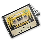8oz Flask Stitched Cassette tape Stainless Steel - Neonblond
