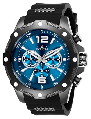 Invicta Men's I-Force Stainless Steel Quartz Watch with Polyurethane Strap, Black, 24 (Model: 27272) from Invicta