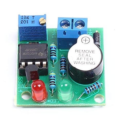 Lm358 12v On Board Lithium Batterie Unterspannungsalarm Summer Unter Voltage Schutzmodul Mit Led Anzeige Gewerbe Industrie Wissenschaft