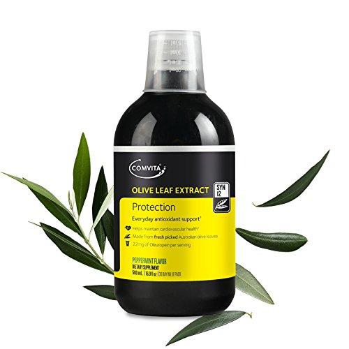 (Comvita Olive Leaf Extract, Natural Immune Support, Liquid Health Supplement, Peppermint Flavor, 500mL (16.9 fl oz))
