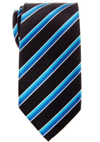 Diagonal Stripe Woven Tie - Retreez Preppy Diagonal Stripe Woven Microfiber 3.15