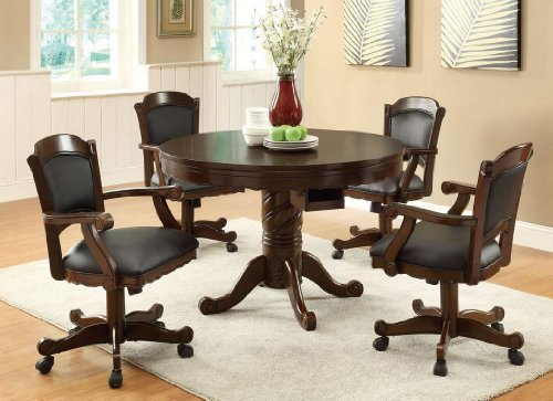 Finished Poker Dining Table Chairs