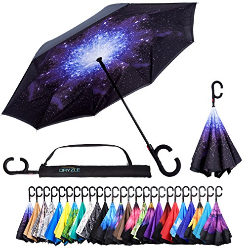 Reverse Inverted Inside Out Umbrella - Upside Down UV Sun Protection Windproof Brella That Open Better Than Most Umbrellas, Reversible Folding Double Layer, Suitable for Golf, Car, Women and Men (Umbrella Good Cheap)