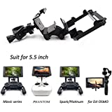 STARTRC Bracket for DJI CrystalSky 5.5 inch Monitor Remote Controller Mounting Bracket for Mavic Pro Mavic Air /Platinum Spark Phantom 4/3 Inspire 1/2 OSMO