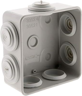 Caja de derivación estanca (IP55, cuadrada 80 x 80 x 36 mm 7 entradas: Amazon.es: Iluminación