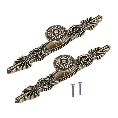 TOOGOO(R) 2 Stueck 165mm antike Bronze Blumen Schrankgriff Kabinett Griff Fach Kleiderschrank Tuerzuziehgriff