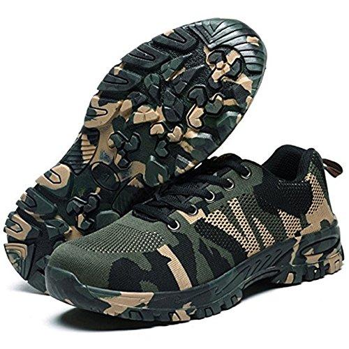 Sécurité Femme Embout Confortable Protection Legere Acier Armée Chaussure De Baskets Verte Chaussures Homme Travail En Fx5aWUw