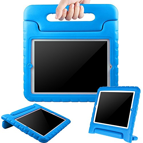 BMOUO ShockProof Convertible Handle Light Weight EVA Protective Stand Kids Case for Apple iPad 4, iPad 3 and iPad 2 - Blue