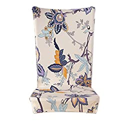 Kaariss Stretch Removable Washable Short Dining Chair Protector Cover Slipcover