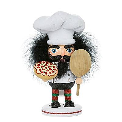 """Kurt Adler HA0335 8"""" Hollywood Pizza Guy Nutcracker"""