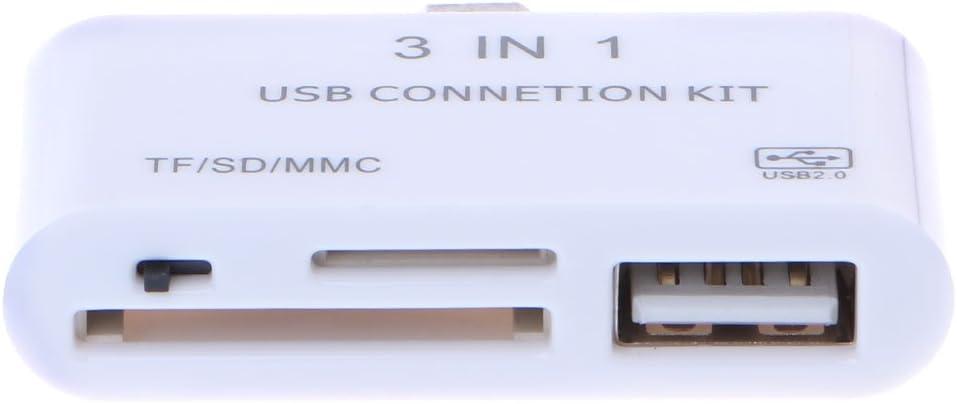 MANGKE 3 in 1 Card Reader USB Charging Adapter OTG Micro USB 2.0 SD//TF//MMC
