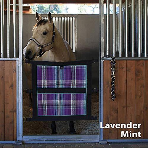 Kensington Stall Door Guard Lavender Mint Plaid