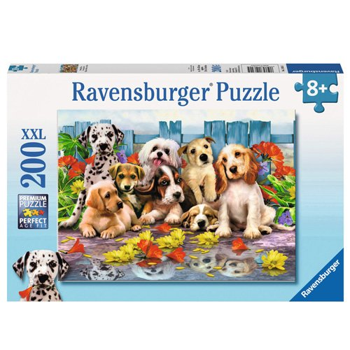 Pieces Fit Together Perfectly 12654 Every Piece is Unique Ravensburger Posing Pups 200 Piece Jigsaw Puzzle for Kids