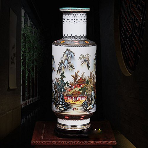 All Décor Chinese Porcelain Vase Flower Home Office Decor Hand Made and Hand Painted Porcelain (17