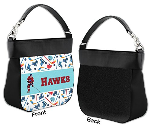 Front Hockey Personalized Trim Genuine 2 w Purse Hobo Leather HTxwO0RTq