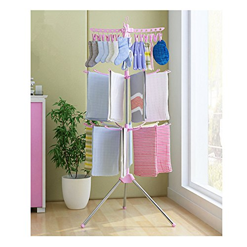 Portable Baby Clothes Drying Rack Free Standing Stainless-St