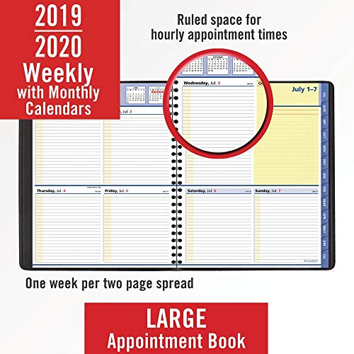 "AT-A-GLANCE 2019-2020 Academic Year Weekly & Monthly Planner, Large, 8"" x 10"", QuickNotes, Black (761105)"