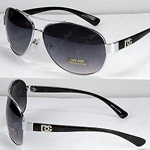 New DG Eyewear Aviator Fashion Designer Sunglasses Shades Mens Women Black Retro