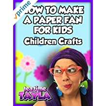 How to Make a Paper Fan for Kids, Children Crafts on Tea Time with Tayla