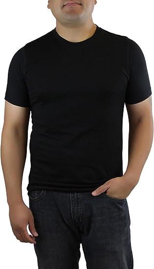 Amazon.com  ToBeInStyle Men s Plain Black T-Shirt  Clothing 47e27d4b7