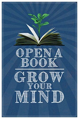 Open A Book Grow Your Mind Classroom Art Poster