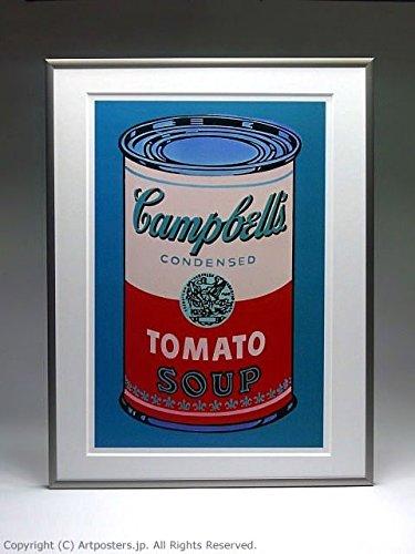 アンディ ウォーホル キャンベルスープ缶 ピンクと赤 額付ポスター ステン B005LN5BIM ステン ステン
