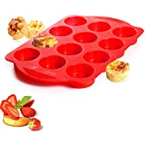 Nupico Silicone Muffin & Cupcake Baking Pan, Bakeware, Non Stick & Quick Release Coating Baking Cups, Cake Molds with 12 Cup