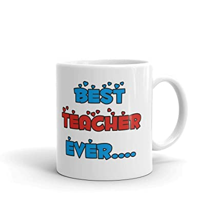 Buy Family Shoping Teachers Day Gifts Birthday Best Teacher Ever 2 Coffee Cup Tea Mug For Gift Online At Low Prices In