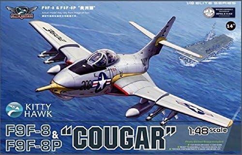 キティホークモデル 1/48 F9F-8/F9F-8P クーガー プラモデル