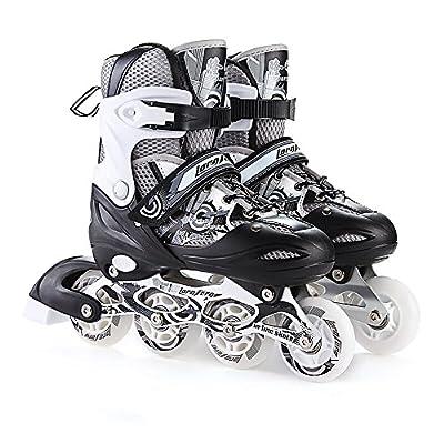 Sunkini Inline Skates Adjustable Sizes Padded Roller Skates for Childrens Women Male Roller Skate Set Skating Shoes Junior Girls Roller Shoes : Sports & Outdoors