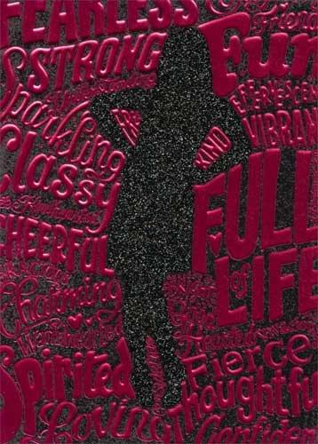 Silouette Girl (Woman Dress Silhouette - Avanti A*Press Birthday Card)