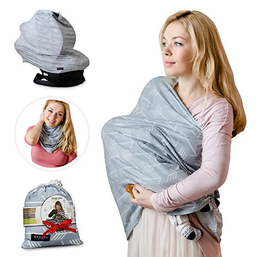 Review Of Nursing Breastfeeding Cover Scarf - Baby Car Seat Canopy, Shopping Cart, Stroller, Carseat...