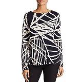 Lafayette 148 New York Womens Silk Blend Long Sleeves Knit Top Navy XXL