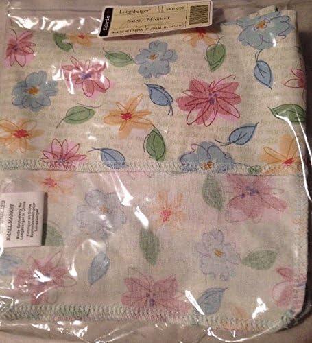 Floral Blooms Longaberger Small Market Basket Liner