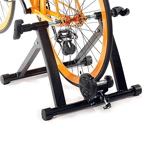 Dporticus Portable Magnetic Bicycle Indoor Exercise Trainer Bike Stand with Noise Reduction Wheel Black by Dporticus