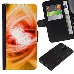 Samsung Galaxy S5 Mini / SM-G800 (Not For S5!!!) Modelo colorido cuero carpeta tirón caso cubierta piel Holster Funda protección - Power Magic Abstract Powerful