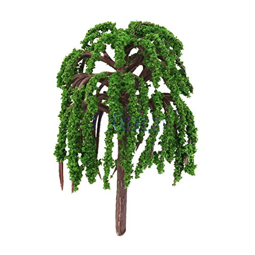 Techinal 1Pcs Artificial Mini Willow Tree Plants Miniature Fairy House Garden Dollhouse Landscaping Decor
