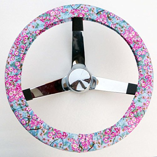 Steering Cherries Wheel Cover - Mana Trading Handmade Steering Wheel Cover Cherry Blossoms
