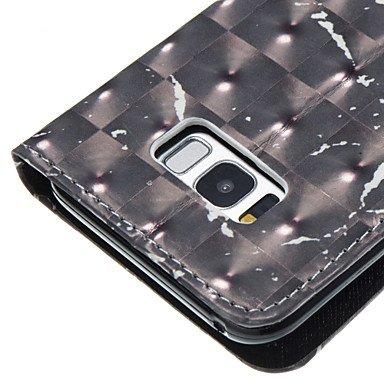Casos hermosos, cubiertas, Para la galaxia s8 samsung galaxia s8 más la cubierta del caso patrón del mármol del negro 3d pintó la caja del teléfono de la carpeta del ( Modelos Compatibles : Galaxy S7  Galaxy S5