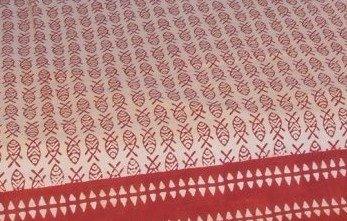 Multicolore Rosso Guru-Shop Copriletto con Stampa a Blocchi Copridivano Letto Sospesi a Mano Design 11 Dimensione: Singolo 150x200 cm Stoffa da Parete Rossa Copriletto Cotone