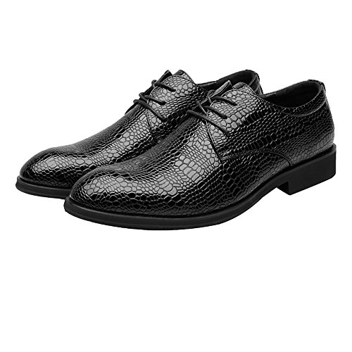 Low da di oxford 44 Lace Pelle EU Nero traspirante coccodrillo Texture Scarpe uomo foderato pelle PU up Color Nero Dimensione Shoes Scarpe BMD Top di superiore pelle in Business UEXFqERw
