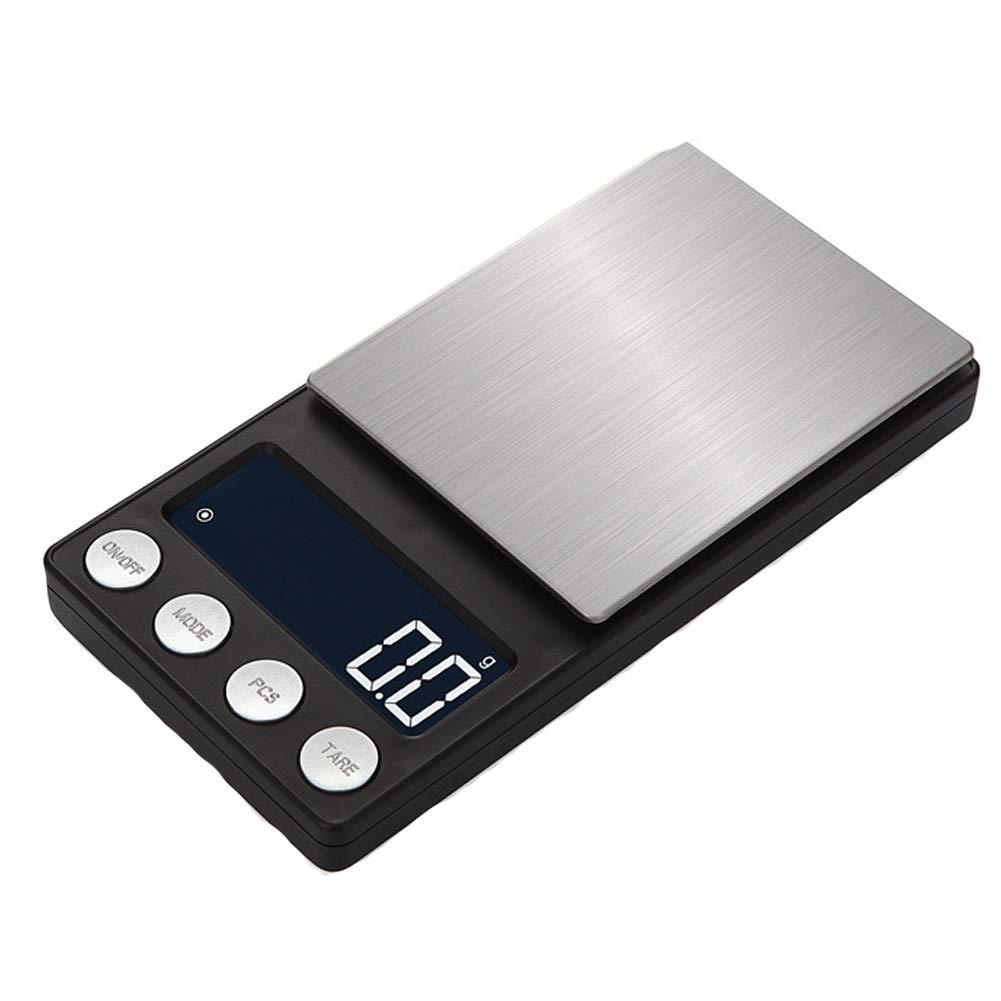 WANGXN Escalas de joyería portátiles con Pantalla LCD retroiluminada balanzas electrónicas 0.01g, Black, 100g/0.01g: Amazon.es