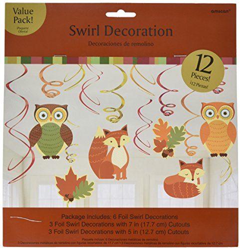 colors-of-fall-thanksgiving-party-woodland-friends-swirl-hanging-decoration-foil-pack-of-12